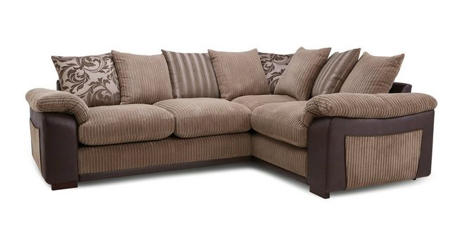 Mitchell Pillow Back Left Hand Facing Deluxe Corner Sofa Bed