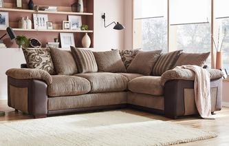 Mitchell Pillow Back Left Hand Facing Deluxe Corner Sofa Bed Inception