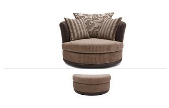 Large Swivel Chair & Stool