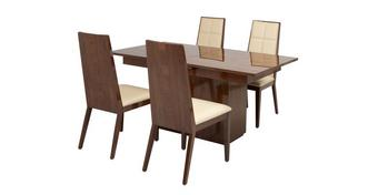 Mitro Extending Dining Table & Set of 4 Chairs