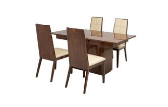 Extending Dining Table & Set of 4 Chairs Mitro