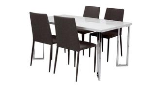 Moda Dining Fixed Top Table and 4 Zenn Chairs