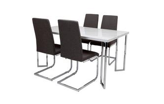 Fixed Top Table and 4 Vitra Chairs Moda