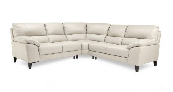 Mode Option C Leather and Leather Look 2 Corner 2 Sofa