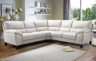 Mode Option C Leather and Leather Look 2 Corner 2 Sofa Premium