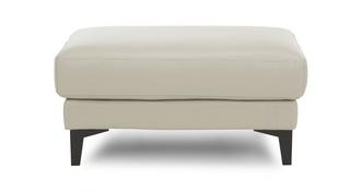Mode Leather and Leather Look Rectangular Footstool