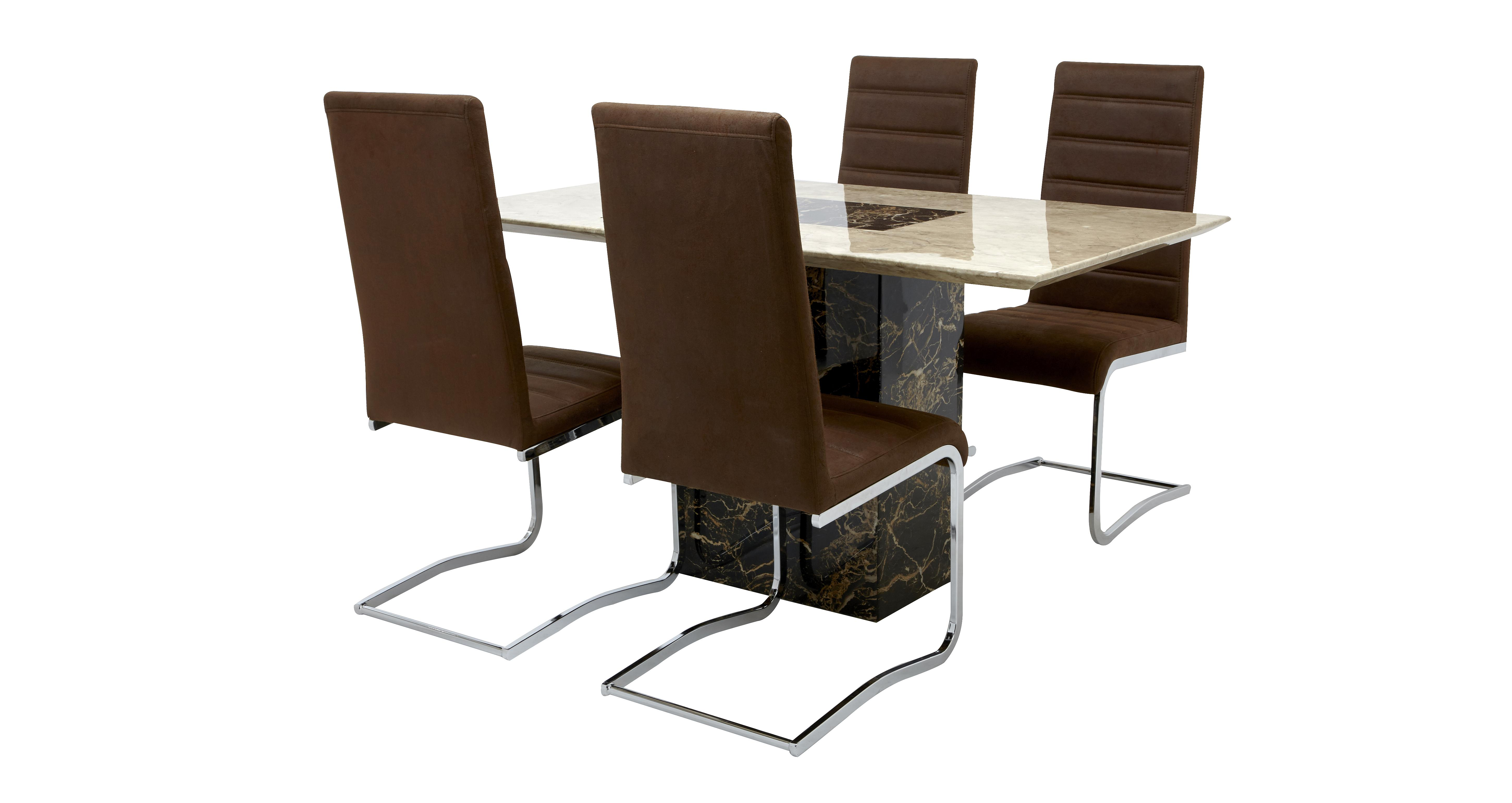 Moderno Dining Table U0026 Set Of 4 Cantilever Chairs