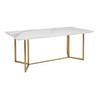 Marble Ceramic 8 Seater Dining Table Brass Legs