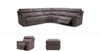 Monarch Clearance Power Corner Recliner Sofa, Chair & Stool