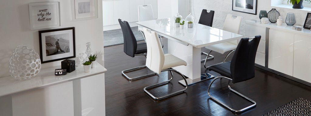 Monochrome Extending Dining Table | DFS