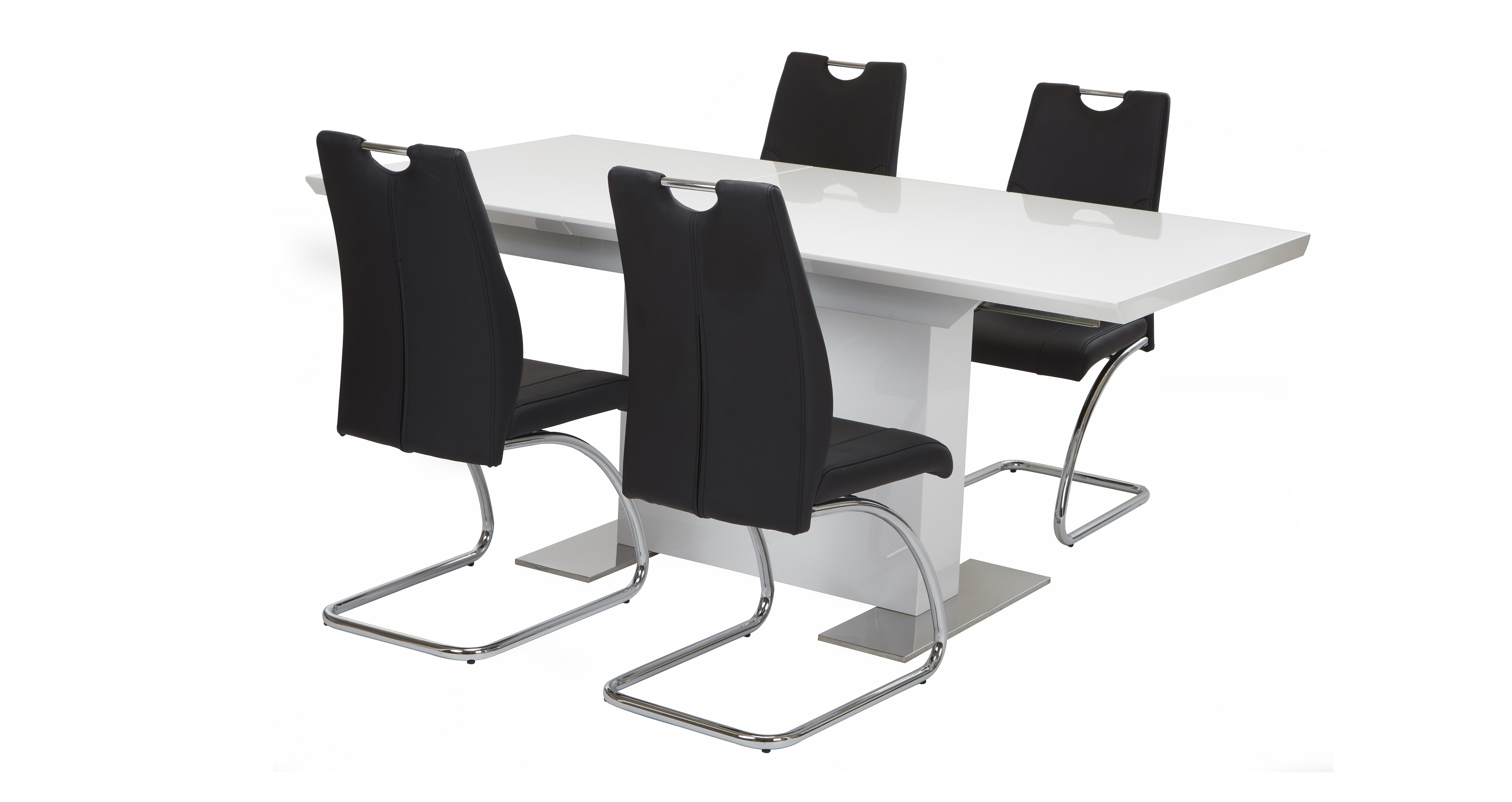 Monochrome Extending Dining Table Amp Set Of 4 Chairs Dfs