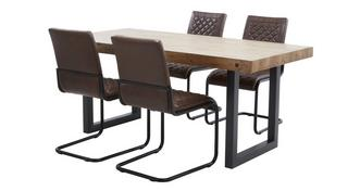 Montana Fixed Table and 4 Chairs