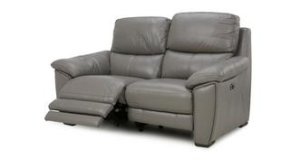 Montaro Leather and Leather Look 2 Seater Electric Recliner