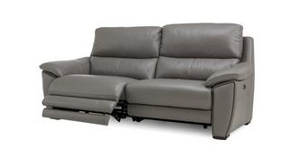 Montaro Leather and Leather Look 3 Seater Electric Recliner