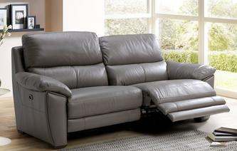 Montaro Leather and Leather Look 3 Seater Electric Recliner Premium