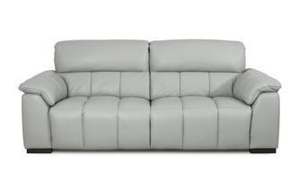 Leather 3 Seater Fixed Sofa