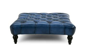 Square Buttoned Footstool