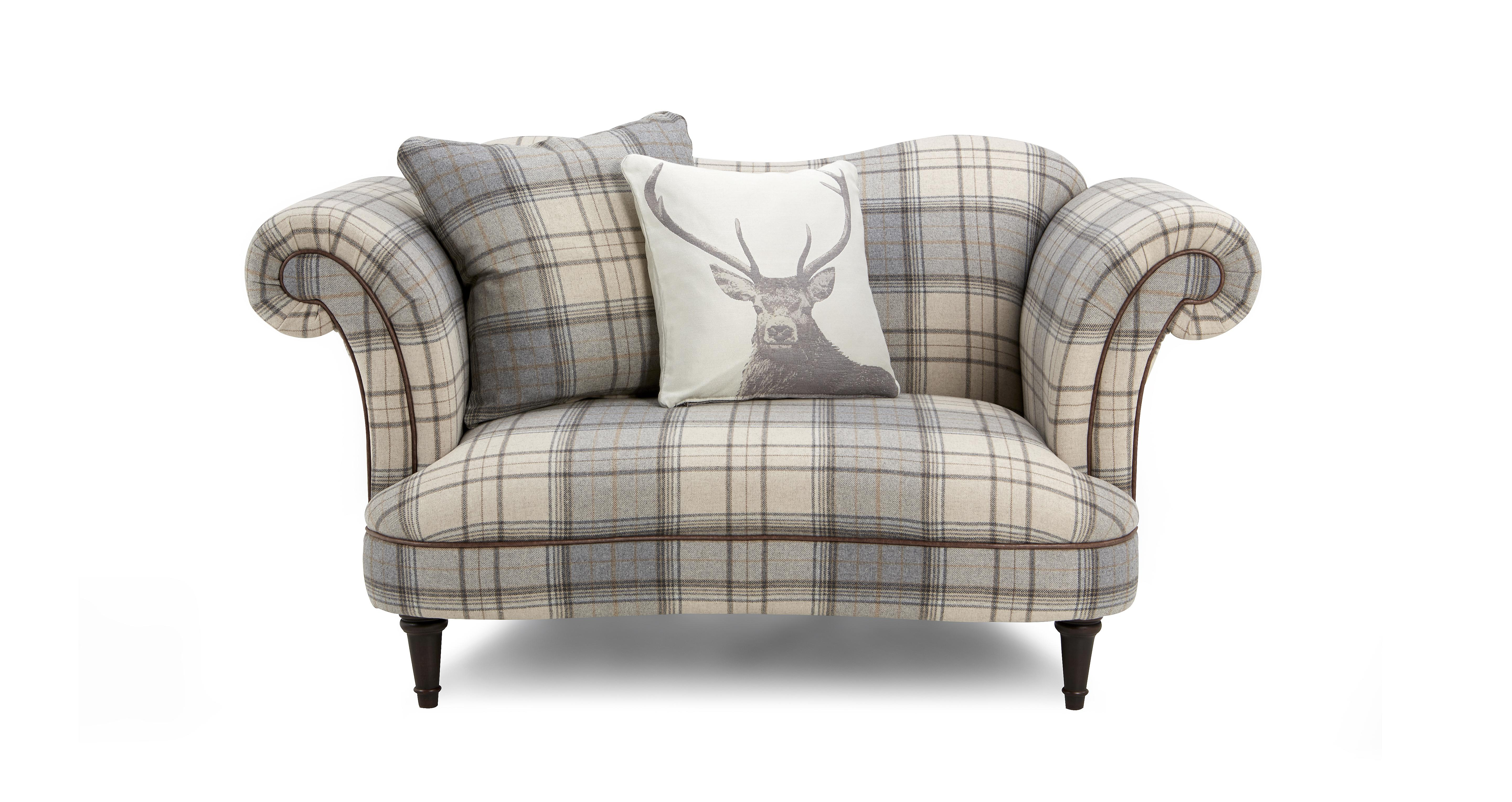 Moray Check Cuddler Sofa Dfs