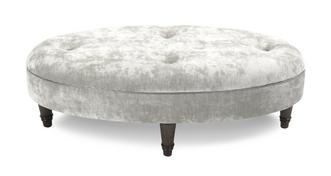 Moray Velvet Oval Footstool