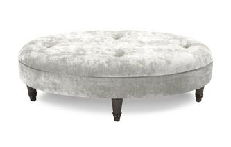 Plain Oval Footstool