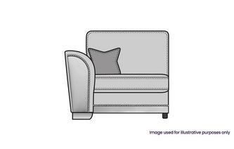 Formal Back Left Hand Facing 1 Arm 1 Seat Unit
