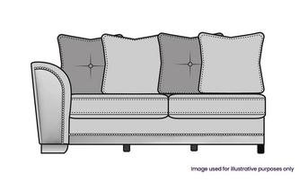 Pillow Back Left Hand Facing 1 Arm 3 Seater Unit