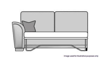 Formal Back Left Hand Facing 1 Arm 3 Seat Supreme Sofa Bed Unit