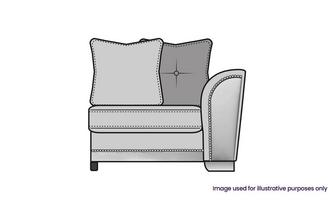 Pillow Back Right Hand Facing 1 Arm 1 Seat Unit