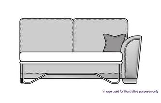 Formal Back Right Hand Facing 1 Arm 3 Seat Supreme Sofa Bed Unit