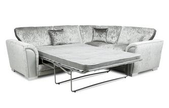 Formal Back Left Hand Facing Arm 3 Seat Deluxe Corner Sofa Bed