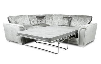 Formal Back Right Hand Facing Arm 3 Seat Deluxe Corner Sofa Bed