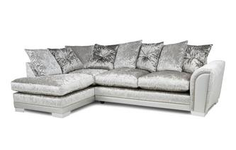 Pillow Back Right Hand Facing Arm 3 Seat Open End Corner Sofa