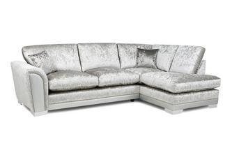 Formal Back Left Hand Facing Arm 3 Seat Open End Corner Sofa
