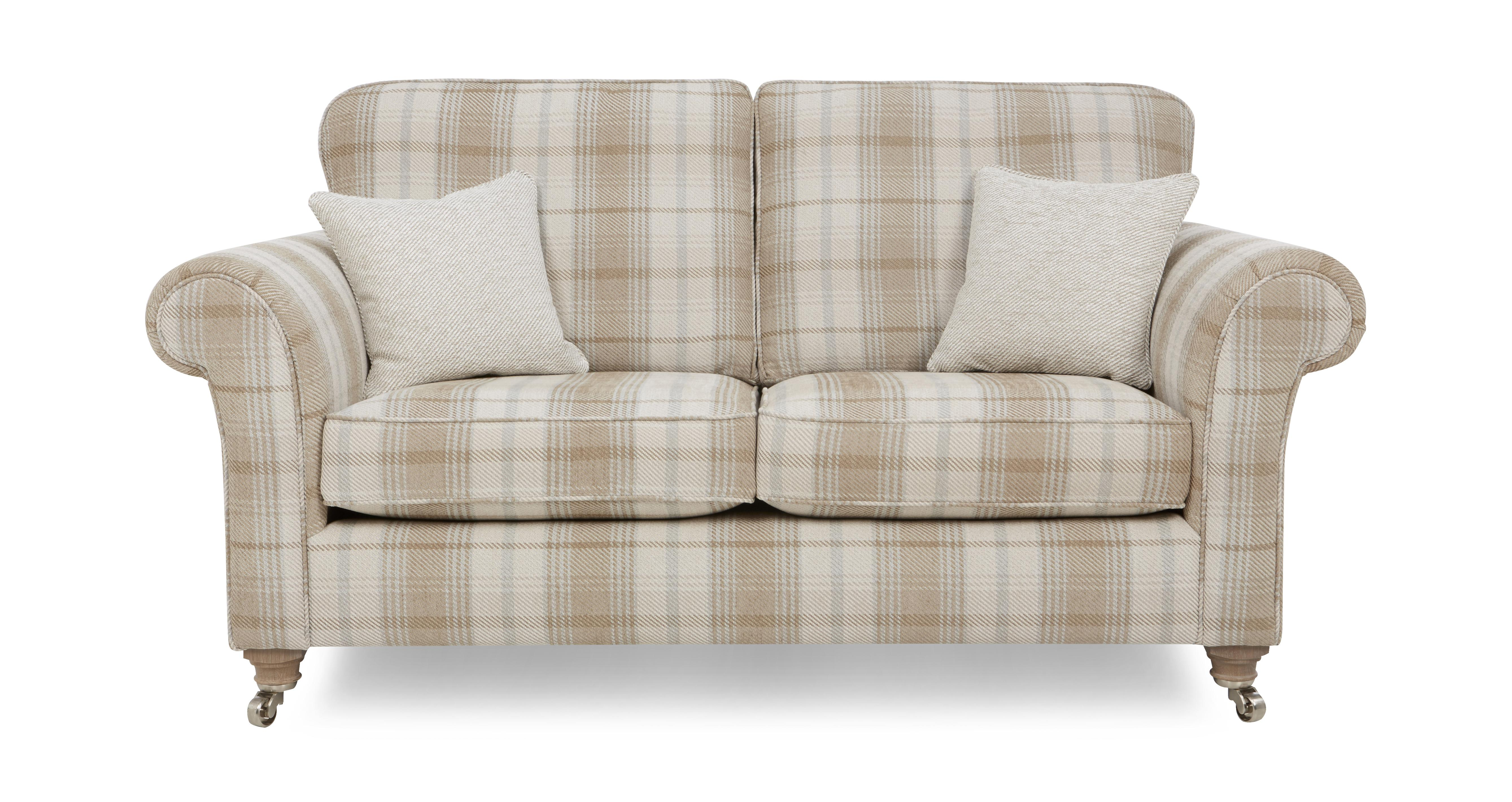Morland Plaid 2 Seater Formal Back Sofa