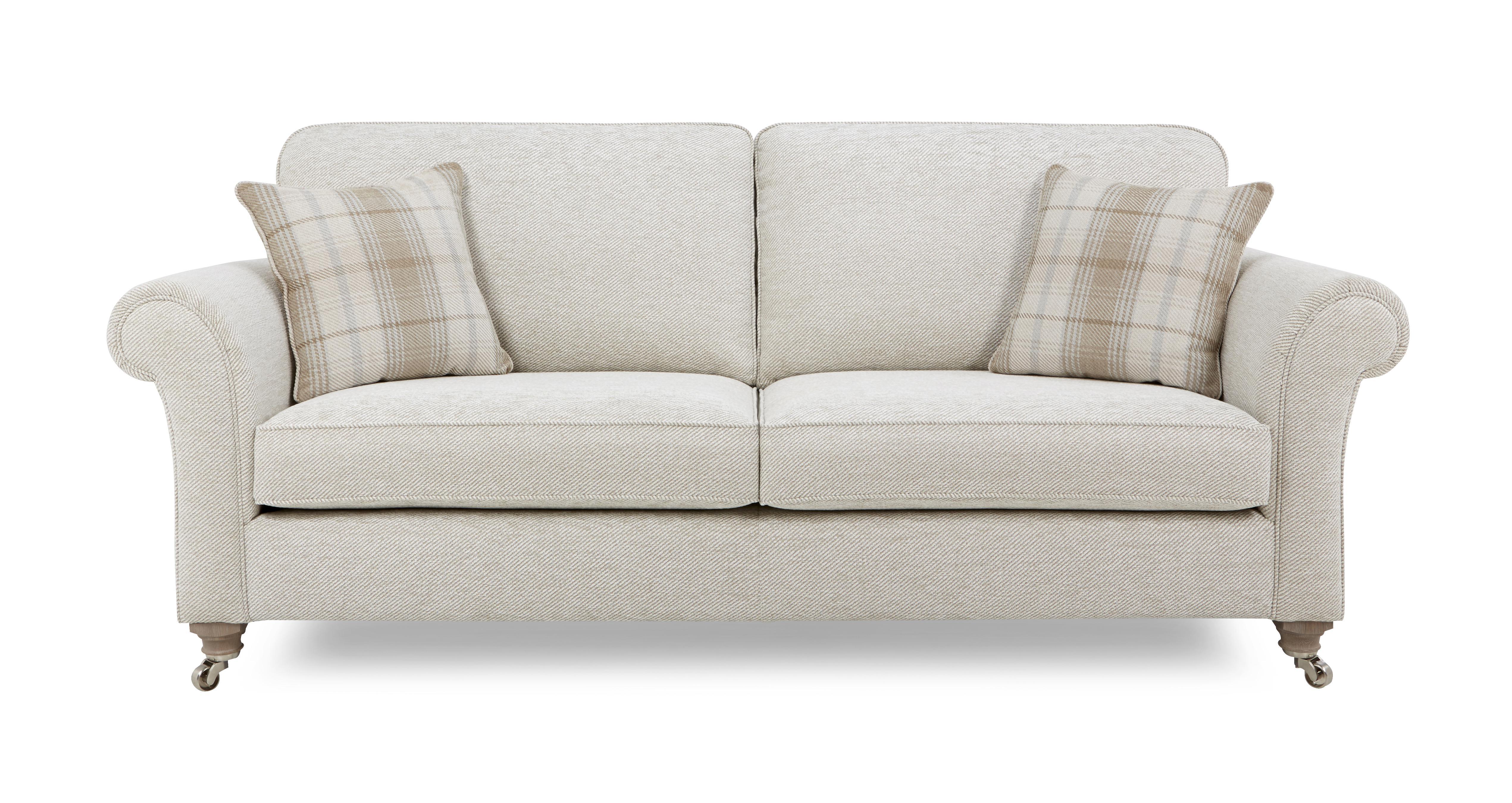Morland Plain All Over 4 Seater Formal Back Sofa Morland Plain
