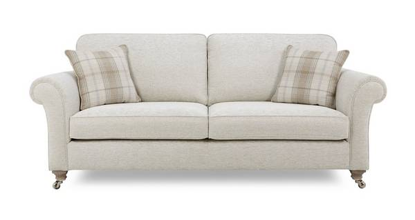 Morland Plain Body 4 Seater Formal Back Sofa