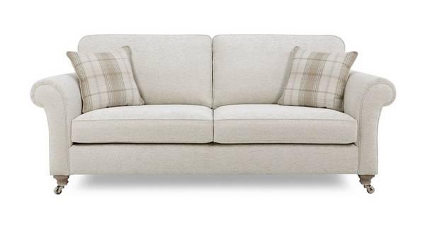 Morland Plain Body 4 Seater Formal Back Sofa