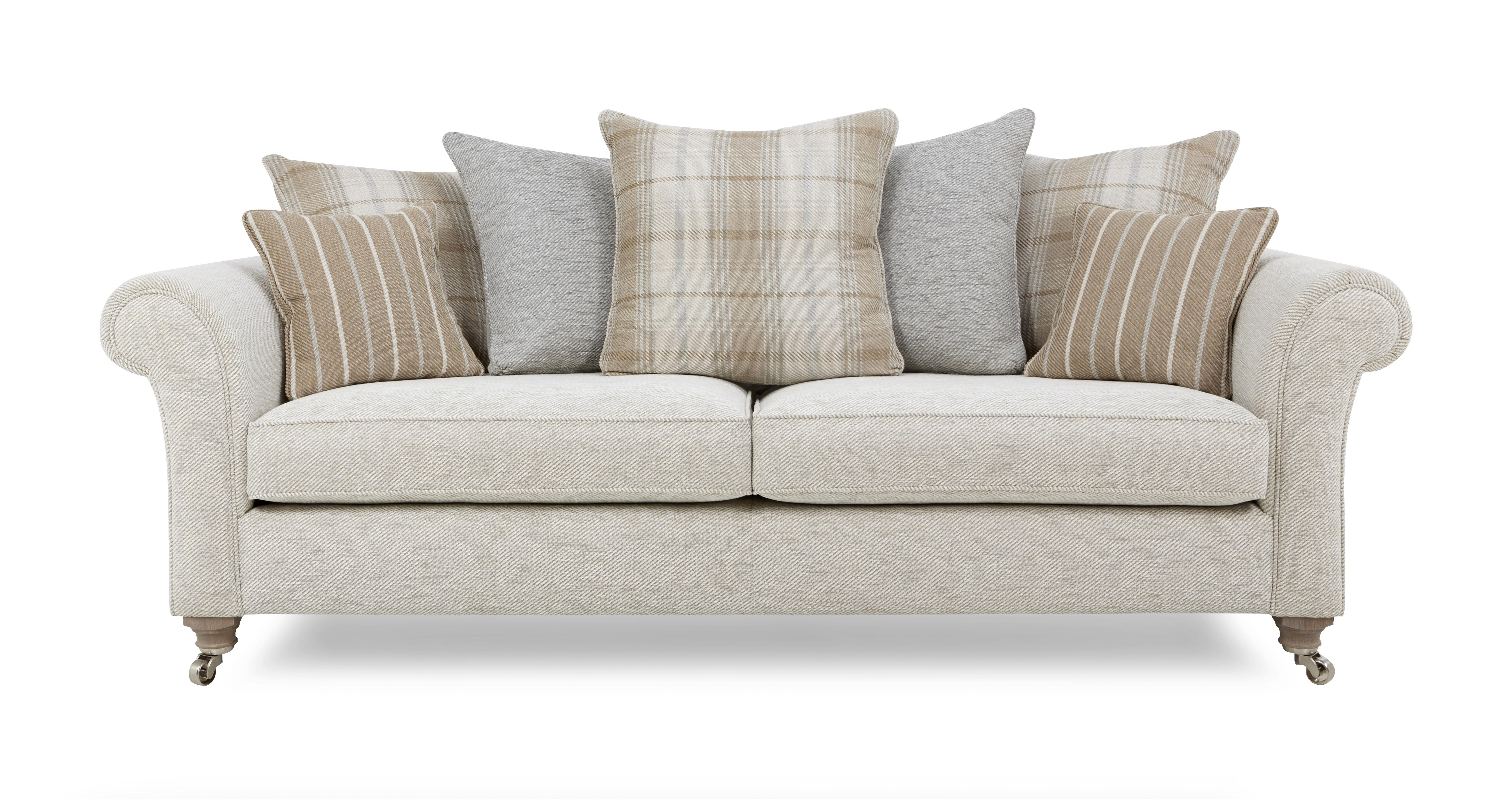 Morland Plain Body 4 Seater Pillow Back Sofa