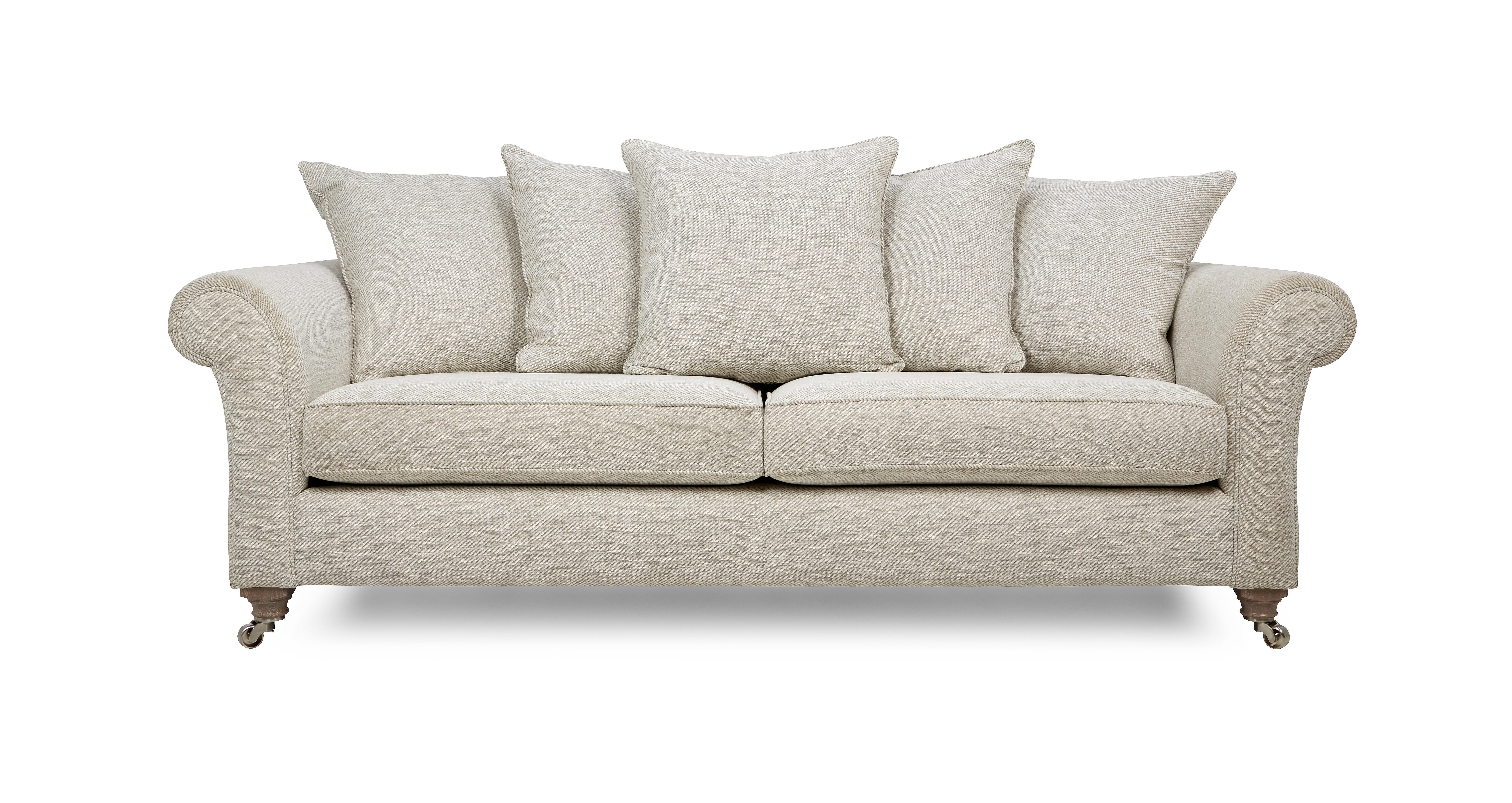 Morland Plain All Over 4 Seater Pillow Back Sofa Morland
