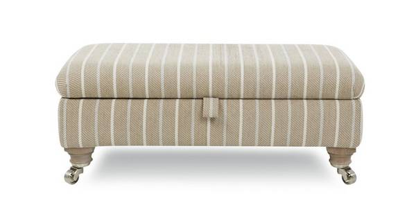Morland Stripe Rectangular Storage Footstool