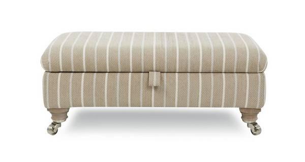 Morland Stripe Rectangular Storage Footstool