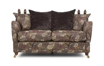 2 Seater Pattern Pillow Back Sofa