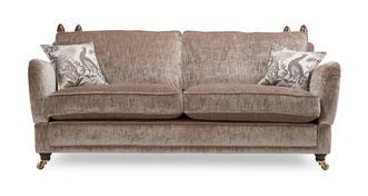 Morris 4 Seater Plain Formal Back Sofa