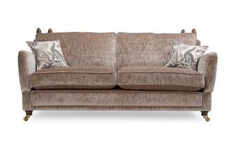 4 Seater Plain Formal Back Sofa Morris