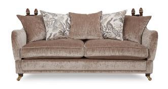 Morris 4 Seater Plain Pillow Back Sofa