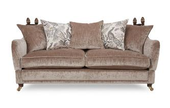 4 Seater Plain Pillow Back Sofa