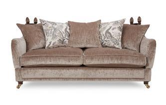 4 Seater Plain Pillow Back Sofa Morris