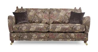 Morris 4 Seater Pattern Formal Back Sofa