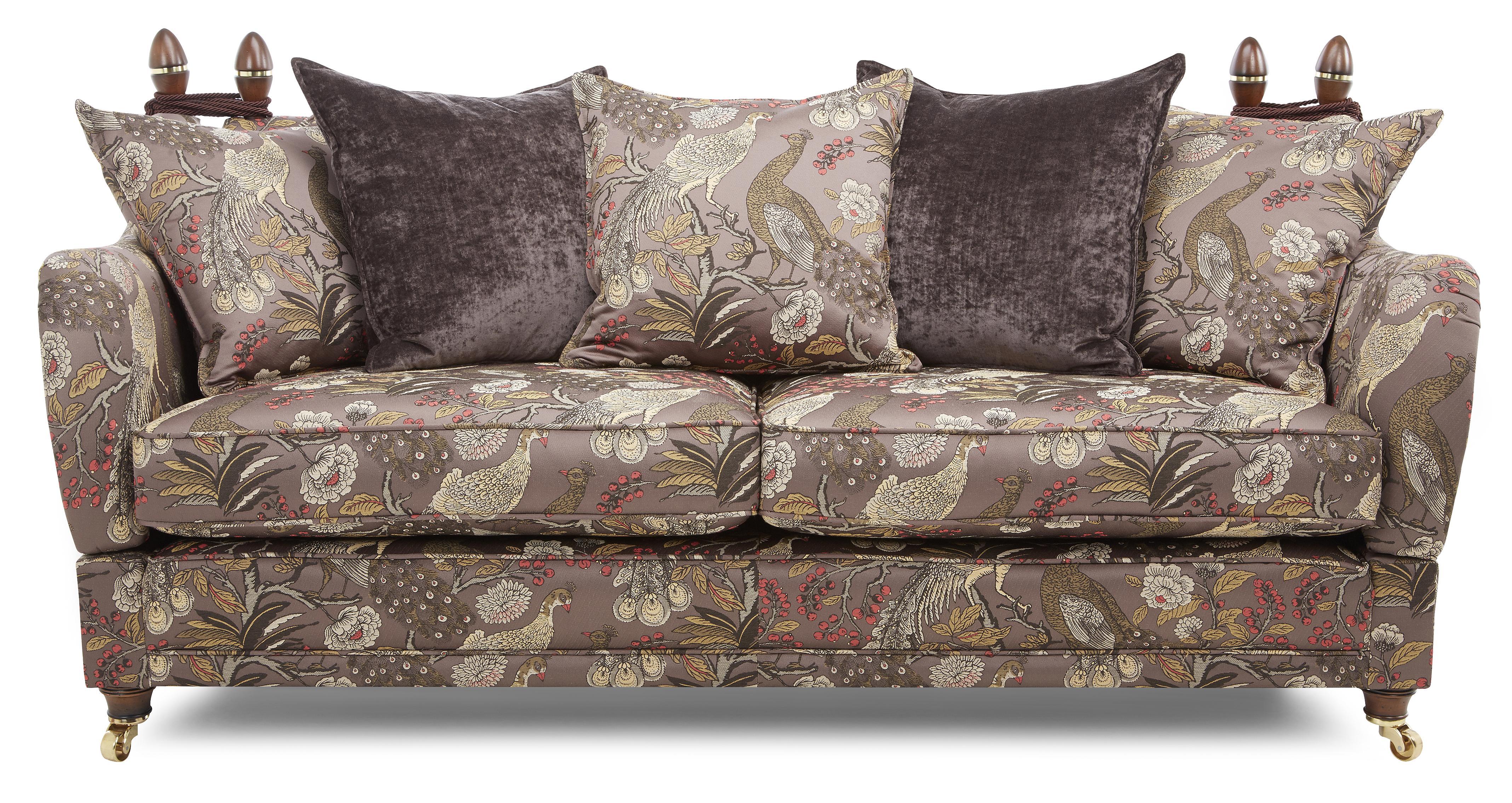 Morris 4 Seater Pattern Pillow Back Sofa | DFS Ireland