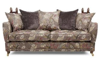 4 Seater Pattern Pillow Back Sofa